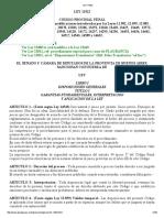 CÓDIGO PROCESAL PENAL PCIA BUENOS AIRES LEY 11922