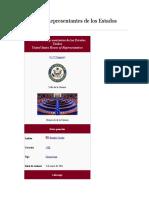 Cámara de Representantes de Los Estados Unidos