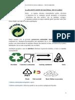 Sortarea ambalajelor pe grupe de material  reciclabile
