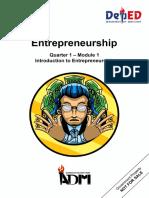 Entrepreneurship12q1 Mod1 Introduction to Entrepreneurship v3