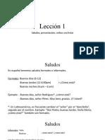 Español Extranjeros Lecc. 1