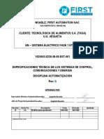 10. 1020053-8230-IB-08-EST-001 - Especificaciones Técnicas de Sistemas de Control, Comunicación y Energía_RevB
