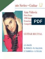 Booklet Ana Vidovic - Guitar Recital