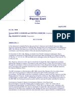 284. Sps. Nerie S. Asuncion and Cristita B. Asuncion Vs. Atty. Edilberto P. Bassig (A.C. No. 11830. July 30, 2019)
