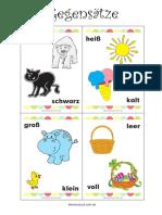 Gegensätze-Lernkarten