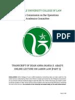 Lcbo Transcript - Pals - Labor Part 2 - Dean Abad - April 28