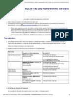 Creación de una hoja de ruta para mantenimiento con datos de QM (Biblioteca SAP - Gestión de instrumentos de inspección (QM-IT))