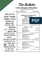 UT Bulletin March 2011