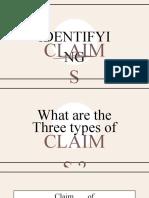 IDENTIFYING CLAIMS