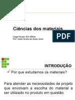 1 - ciencias dos materiais - introdução