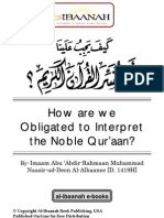 How Are We Obligated to Interpret the Noble Qur'Aan - Mohammed Nasir-Ul-Deen Al-Albani