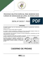 NAED 2017 Caderno de Prova