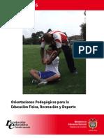 Orientaciones Pedagógicas para la Educación Física, Recreación y Deporte