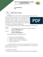 Entrepreneurship Quarter 1 Module 5