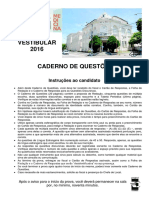 VestibularFMC2016-Cadernodeprovas