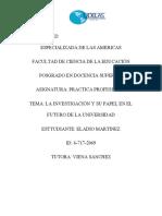 ANALIS SOBRE EL FUTURO DE LAS UNIVERSIDADES PANAMEÑAS