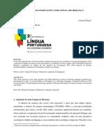 A Aquisicao Do Portugues Como Lingua De