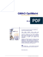GMAO OptiMaint - Manuel de prise en main