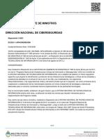 Creación del Centro Nacional de Respuesta a Incidentes Informáticos (CERT)
