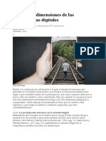 Las cuatro dimensiones de las competencias digitales