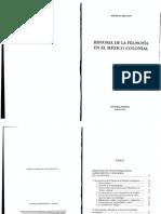 Beuchot Historia de la Filosofía en el México Colonial 1996