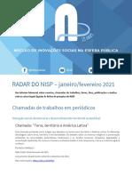 Radar Do NISP Janeiro - Fevereiro 2021.