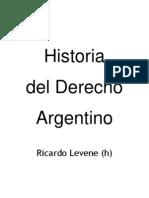 Historia Del Derecho Argentino Ricardo Levene