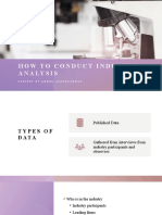How to conduct Industry Analysis