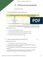 Atividade 14.0 - Dinâmicas da população brasileira - Formulários Google