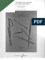 Donjon, J. 8 Estudios de Salón para flauta sola Ed. Billaudot