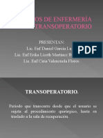 TRANSOPERATORIO EXPOSICION