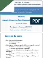 Contenu Du Cours Introduction Aux Didactiques Des Disciplines1 (1)