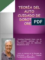 TEORIA DEL AUTOCUIDADO DE DOROTHEA OREM