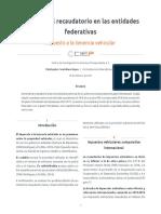 El potencial recaudatorio en las entidades federativas. Impuesto a la tenencia vehicular