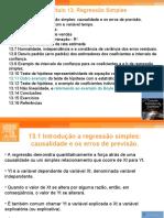 Capítulo 13 Regressão Simples