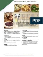 Menus de La Cuisine de Meme Moniq Du 13 Au 19 Fevrier