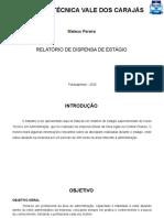 APRESENTAÇÃO DE ESTAGIO SUPERVISIONADO MATEUS PEREIRA