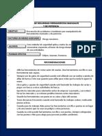 r3.Estandar Manejo Herramienta Manual y de Potencia
