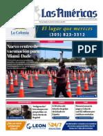 Portada 23 Febrero 2021 Diario Las Américas