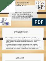 Normas Internacionales de Auditoria 260