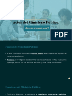 Actos del Ministerio Público