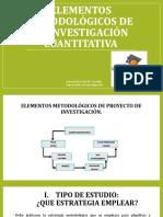 Elementos Metodológicos de La Investigación Cuantitativa