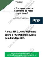 A Nova NR01 e o PGR