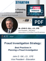 Fraud Investigation Strategy