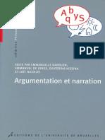 Argumentation Et Narration