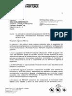 Certificación de ampliaciones o remodelaciones  2014029654