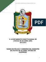 Bando de Policía y Gobierno de Atoyac