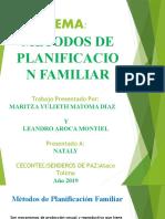 EXPOSICION METODOS PLANIFICACION FAMILIAR