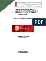 Protocolo Restaurante