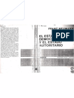 Neumann - El Estado democrático y el Estado autoritario